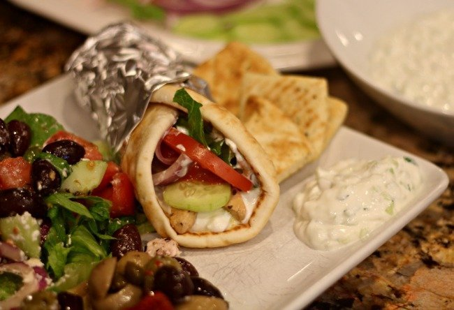Chicken Gyros With Cucumber Salsa And Tsatsiki Recipes — Dishmaps