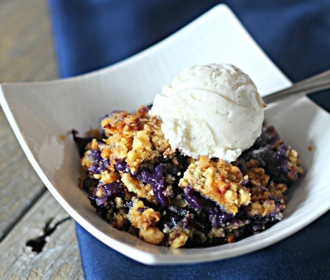 Blueberry Dump Cake For Camping Or Home