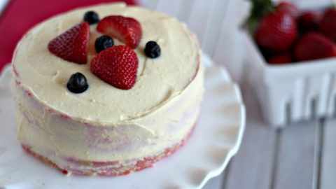 Low Calorie Strawberry Cake