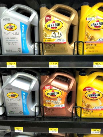 Oil Change Checklist with Pennzoil Oil - Menu of Musings